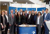 Der Stand des Bayerischen Biotechnologie Clusters auf den Deutschen Biotechnologietagen 2019 in Würzburg.